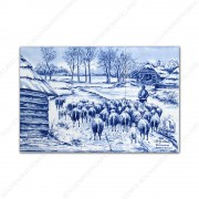 Herd of sheep - Mauve small...
