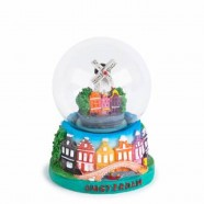 Amsterdam Windmill Canal House - Snow Globe 7cm