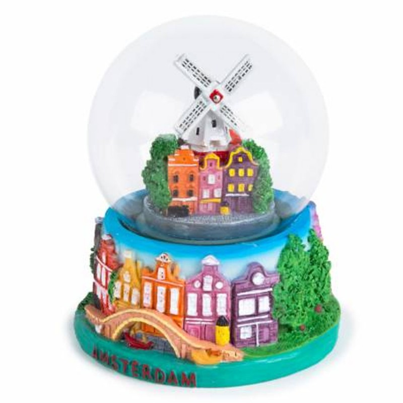 Amsterdam Windmill Canal House - Snow Globe 10cm