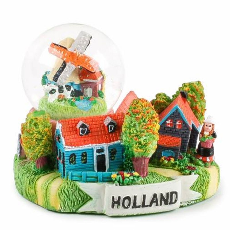 Dorpstafereel Holland - Sneeuwbol 7cm