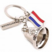 Bell with Flags - Keychain