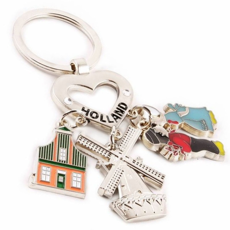 Charms Windmill - Kissing couple - House - Keychain