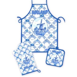 Keukenset 3-delig - Delfts Blauw Tegel