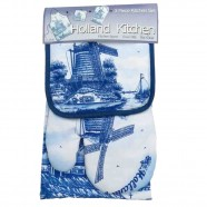 Kitchen Set - Delft Blue Windmill