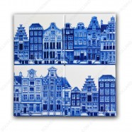 Amsterdam Canalhouses - Coasters - set of 4