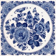Bloemen - Tegel 15x15cm