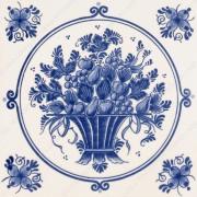 Fruitmand met Bloemen -...