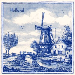 Holland Windmill - Tile 15x15cm