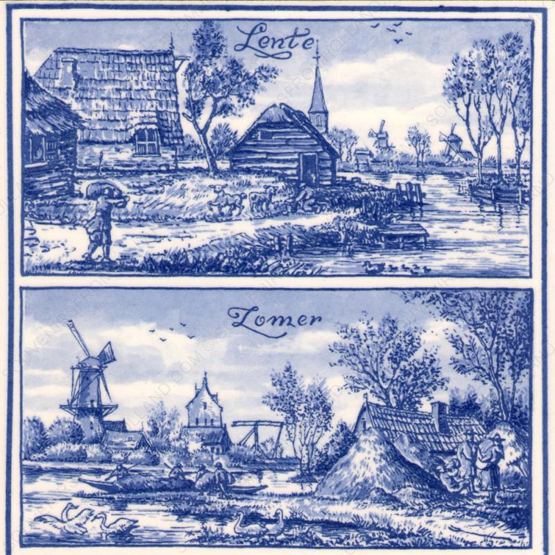 Lente en Zomer in Holland - Tegel 15x15cm