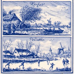 Fall and Winter in Holland - Tile 15x15cm