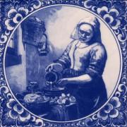 Milkmaid by Vermeer - Tile...