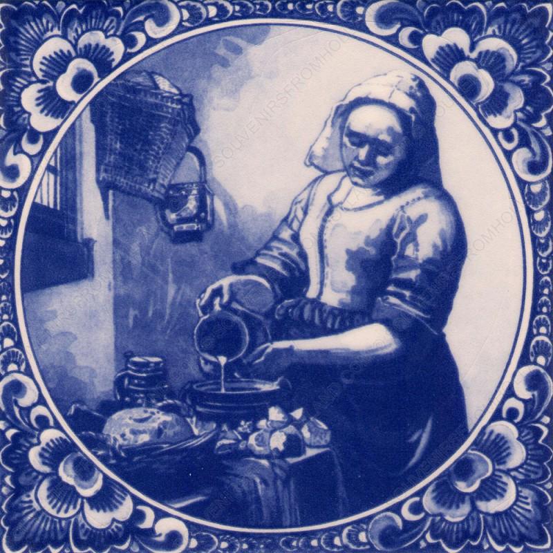 Het Melkmeisje van Vermeer - Tegel 15x15cm