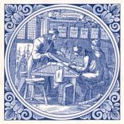 The Merchant- Tile 15x15cm