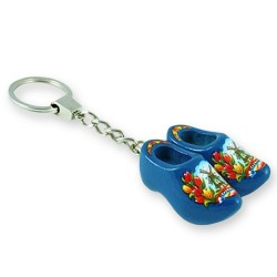 Blue Tulp - Wooden Shoes - Keychain