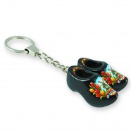 Black Tulip - Wooden Shoes - Keychain