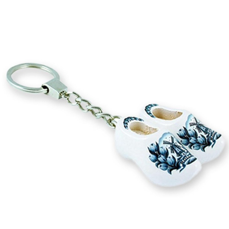 Delft Blue Tulip - Wooden Shoes - Keychain