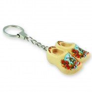 Varnished Tulip - Wooden Shoes - Keychain