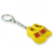 Traditional Yellow - Wooden Shoes - Keychain