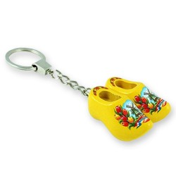 Yellow Tulip - Wooden Shoes - Keychain
