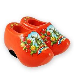 Oranje Tulpen - Klompenpaar - Magneet