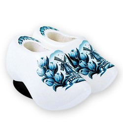 Delft Blue Tulips - Wooden Shoes - Magnet