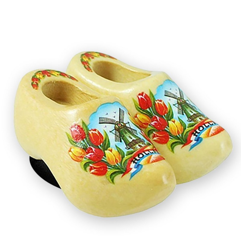 Varnished Tulips - Wooden Shoes - Magnet