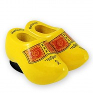 Traditional Yellow - Wooden Shoes - Magnet