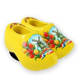 Yellow Tulips - Wooden Shoes - Magnet