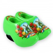 Green Tulips - Wooden Shoes...