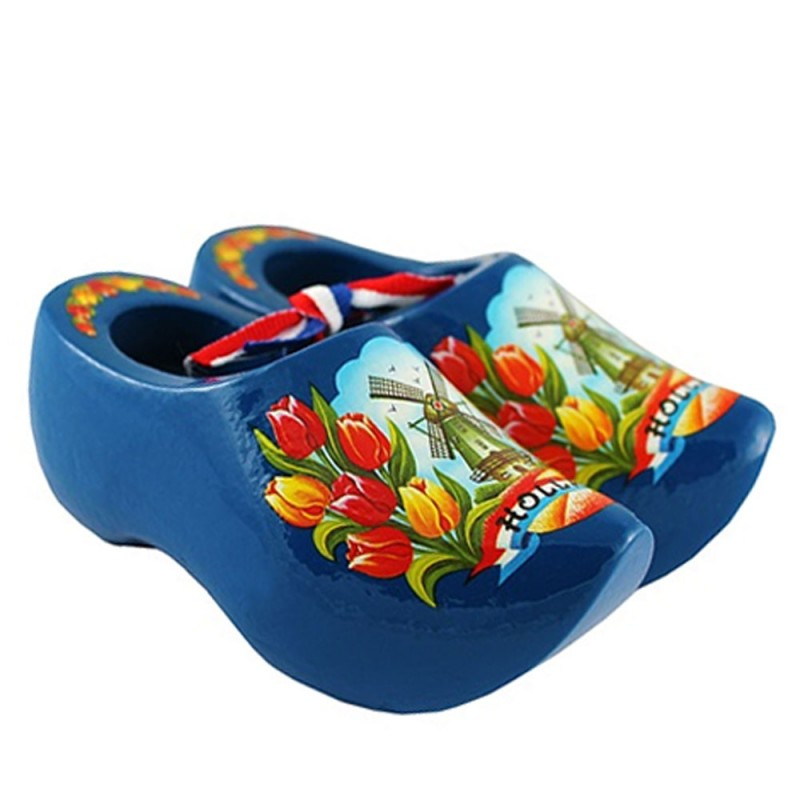 Blue Wooden Shoes 14cm