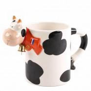 Melkbeker Koe met bel - 12cm