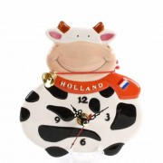 Happy Cow Wall Clock - 15cm
