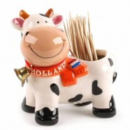 Toothpick holder Cow with Bell - 8cm