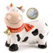 Moneybox Happy Cow with Bell - 10cm