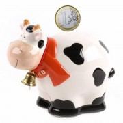 Moneybox Fat Cow with Bell...