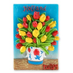 Tulips in delft blue vase magnet