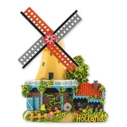 Green/Yellow Windmill - Magnet Polystone
