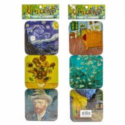 Van Gogh - Kurk Onderzetters - 6 assorti