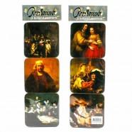 Rembrandt - Kurk Onderzetters - 6 assorti