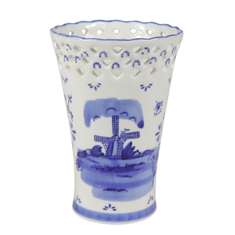 Vaas Delfts Blauw.Molen Delfts Blauw Vaas 15 5cm Tulpenvazen Souvenirs From Holland