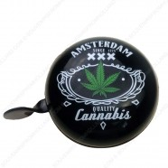 Bicycle Bell Amsterdam Cannabis 8cm