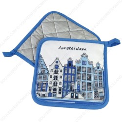 Potholder - Delft Blue Canal Houses