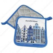 Pannenlappen - Delfts Blauw Grachtenhuizen