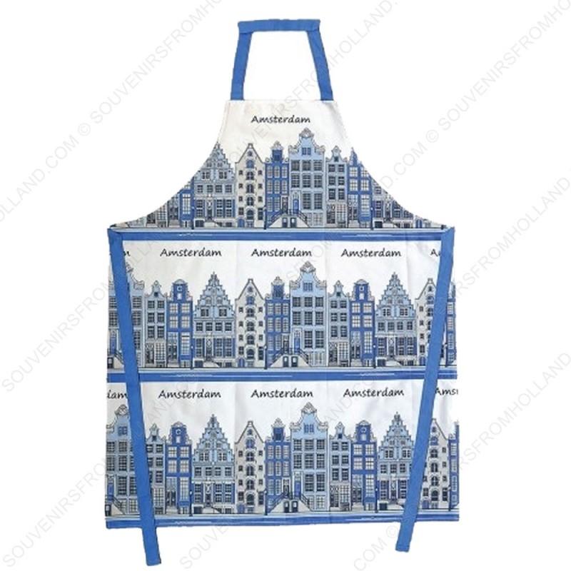 Keukenschort - Delfts Blauw Grachtenhuizen