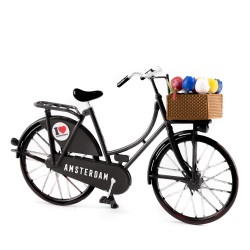 Mini Bicycle Black - Miniature 13,5 x 8,5 cm