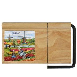 Cheese Plate and Slicer - Tulipfields