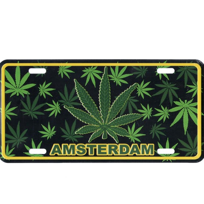 Amsterdam Cannabis - Kentekenplaat