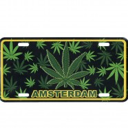 Amsterdam Cannabis - Licence Plate