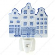 Amsterdam Canalhouses - Delft Blue - Night Light