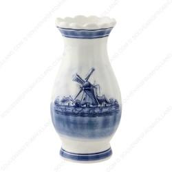 Gekartelde Delfts Blauwe Vaas 14cm